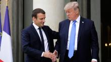 France's Macron denies NY Times story about Trump pulling out of Iran deal