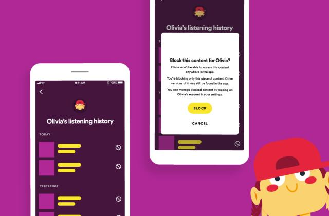 Spotify Kids lets parents view listening history and block content