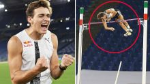 Pole vaulter makes 'insane' history in never-before-seen moment