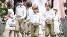 以一身可愛田園風造型擔任姨姨的花童!喬治小王子卻被拍到在婚禮上放聲大哭?