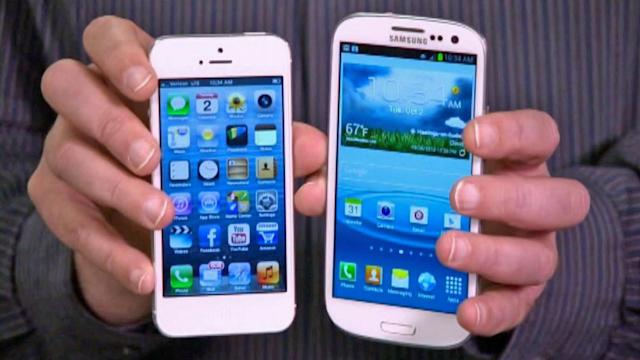 Apple iPhone 5, Android features compared