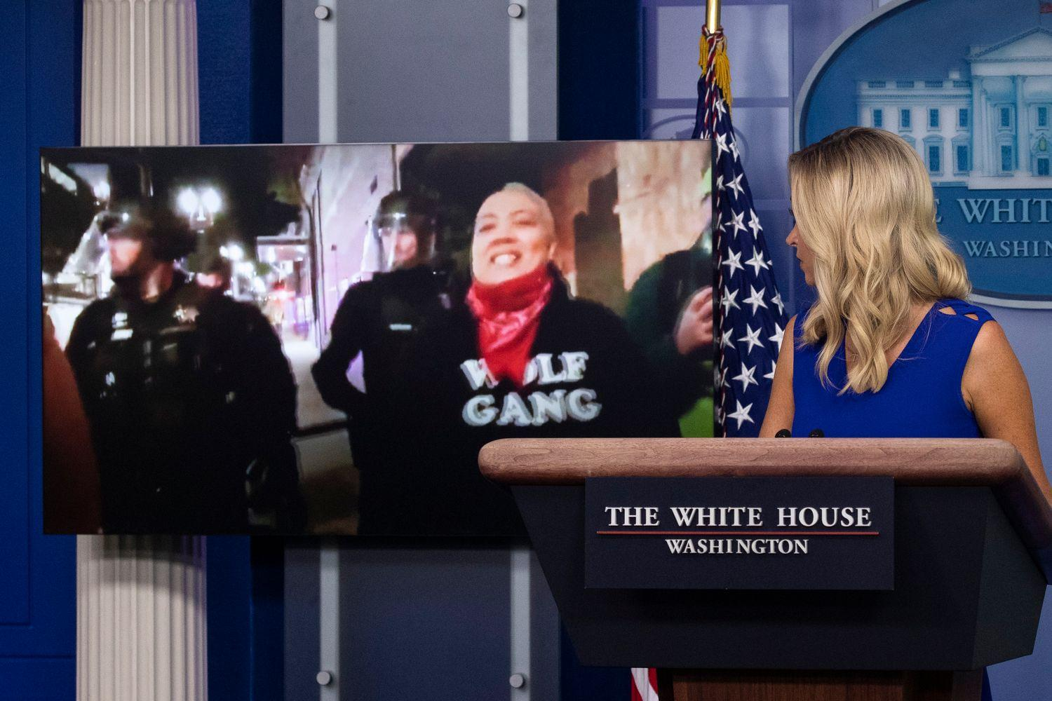 Fox News breaks away from White House briefing that aired 'F--- Cops' graffiti
