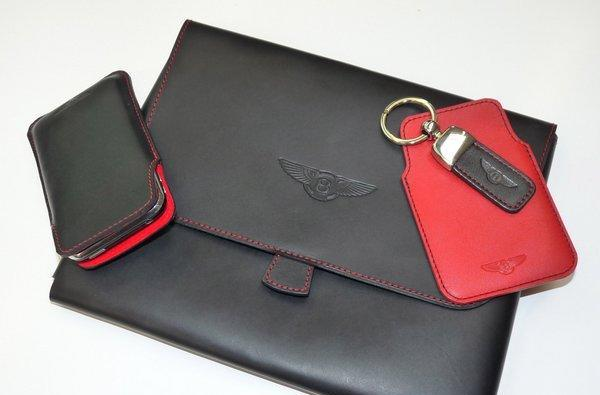 Bentley Collection iPad, iPhone, and BlackBerry cases are made of rich, non-Corinthian leather