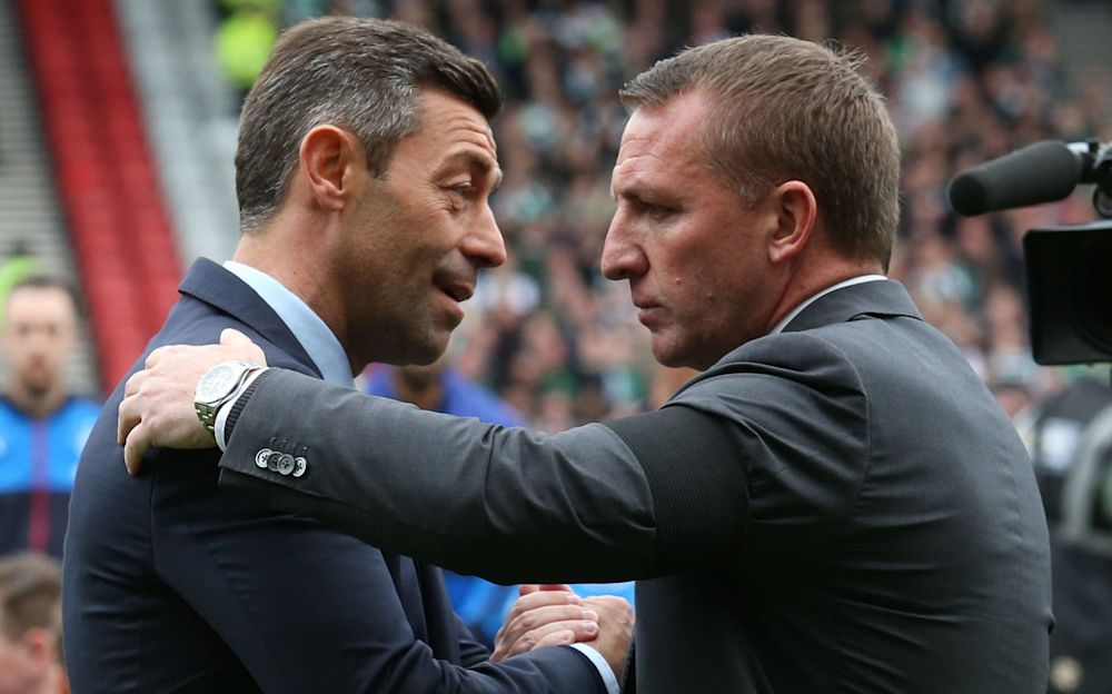 Rangers' Pedro Caixinha and Celtic's Brendan Rodgers meet for the second time in a week on Saturday at noon at Ibrox - PA
