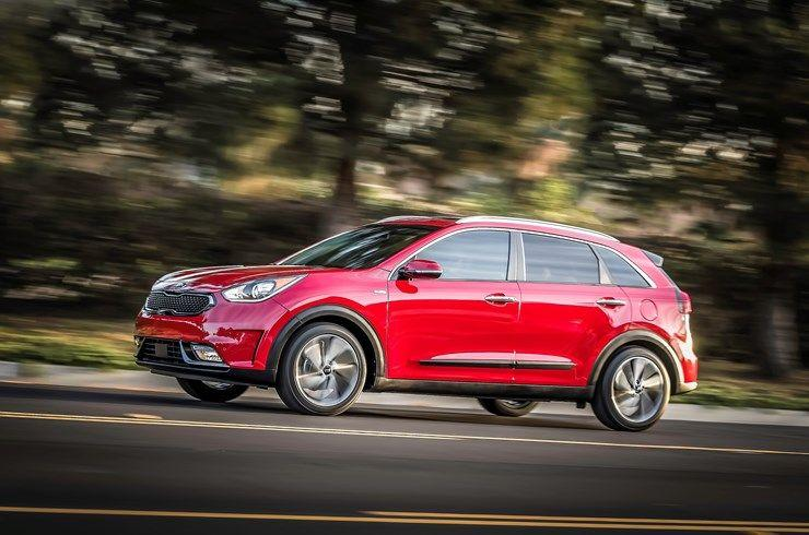 """<p><strong>MSRP:</strong> $24,485 <strong>Engine:</strong> 1.6-liter inline-4; permanent magnet synchronous AC motor <strong>EPA Combined:</strong> 50 mpg</p><p>The <a href=""""https://www.caranddriver.com/kia/niro"""" rel=""""nofollow noopener"""" target=""""_blank"""" data-ylk=""""slk:Niro"""" class=""""link rapid-noclick-resp"""">Niro</a> is the only hybrid vehicle on this list. Its gas-electric powertrain delivers a stunning 50 mpg combined on the EPA test. The dollars it saves in gas make up for the its midpack MSRP. That, plus its good looks and pleasant driving character, got it elected to our <a href=""""https://www.caranddriver.com/shopping-advice/a25751166/best-trucks-suvs-vans-2019/#ec2019hybridsandelectricvehicles"""" rel=""""nofollow noopener"""" target=""""_blank"""" data-ylk=""""slk:2019 Editors' Choice list."""" class=""""link rapid-noclick-resp"""">2019 Editors' Choice list.</a></p>"""