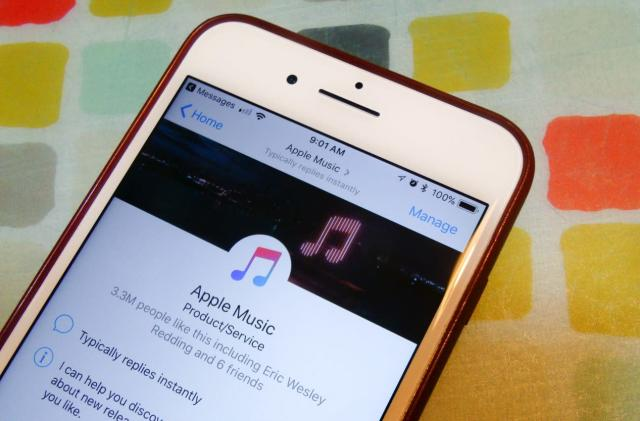 Apple Music tunes are now available inside Facebook Messenger
