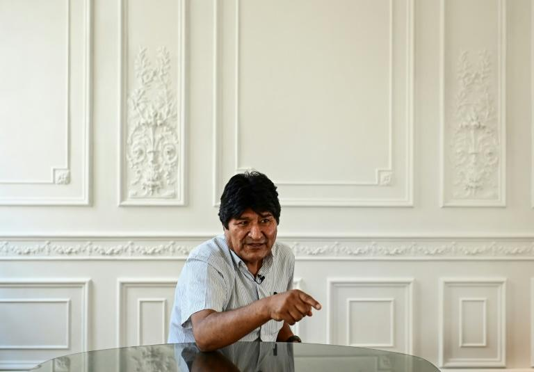 Bolivia's ex-president Evo Morales claims to have been a victim of a coup d'etat orchestrated by Washington to gain access to the South American country's lithium reserves (AFP Photo/RONALDO SCHEMIDT)