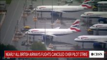 British Airways cancels nearly all flights over pilot strike