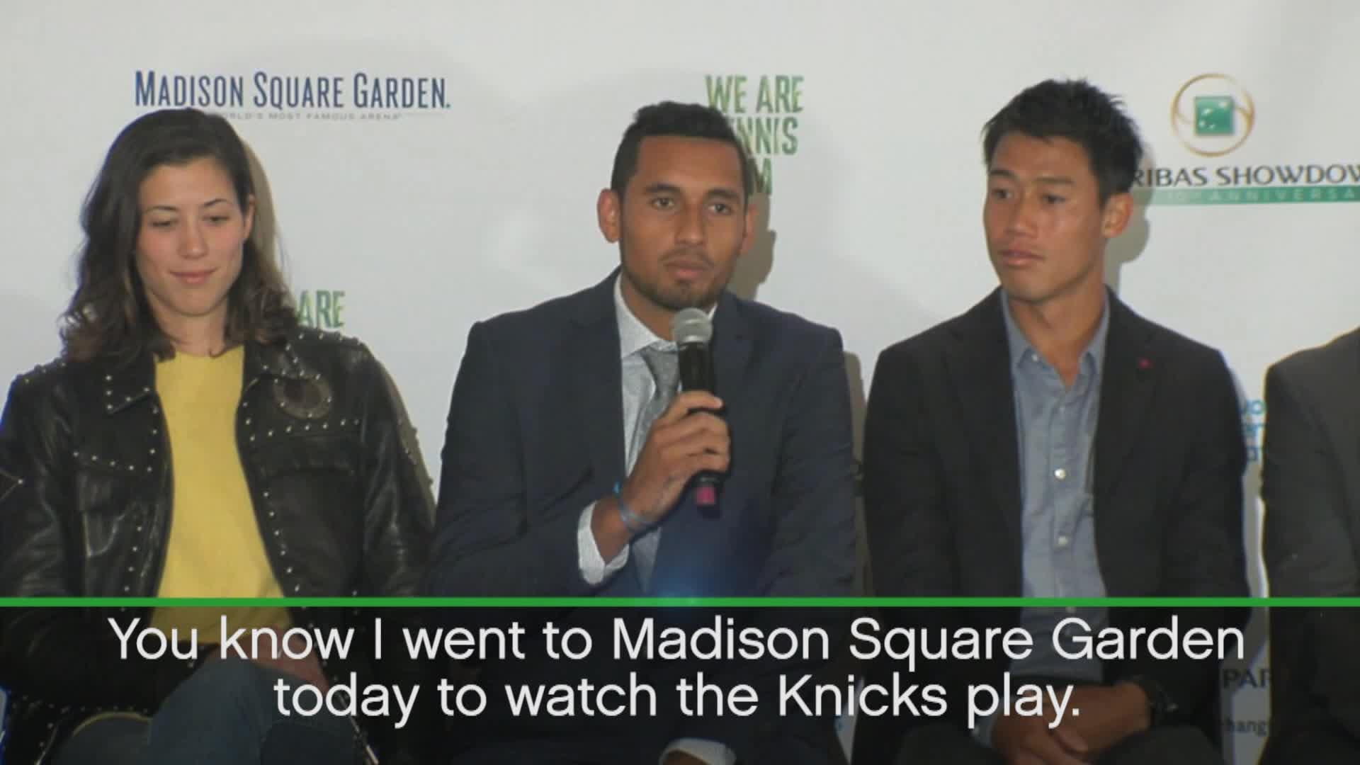 Nba Fan Kyrgios Ecxited To Play At Madison Square Gardens Video