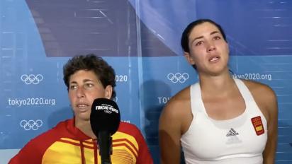 Las lágrimas de Garbiñe Muguruza por su amiga Carla Suárez rompen el corazón