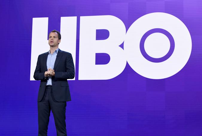 BURBANK, CALIFORNIA - OCTOBER 29: Casey Bloys, President of Programming of HBO, speaks onstage at HBO Max WarnerMedia Investor Day Presentation at Warner Bros. Studios on October 29, 2019 in Burbank, California. (Photo by Presley Ann/Getty Images for WarnerMedia)