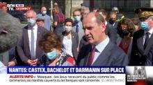 """Incendie de la cathédrale à Nantes: Castex veut que la """"reconstruction soit la plus rapide possible"""""""