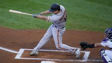 Dickerson homers 3 times, Giants win big over Rockies, 23-5