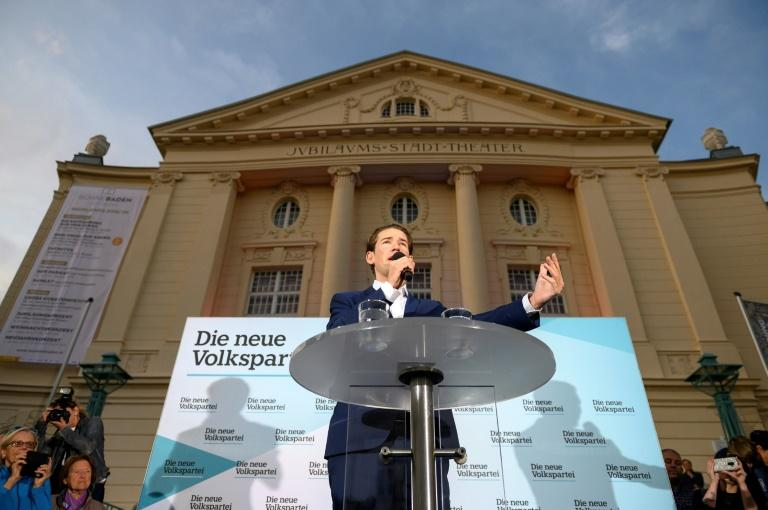 Commentators say Kurz is stoking a 'culture war' between the better-off, more Catholic population of small-town Austria, and the diverse big cities, especially Vienna (AFP Photo/JOE KLAMAR)