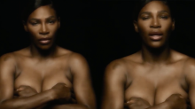 Serena Williams shares topless video for breast cancer awareness