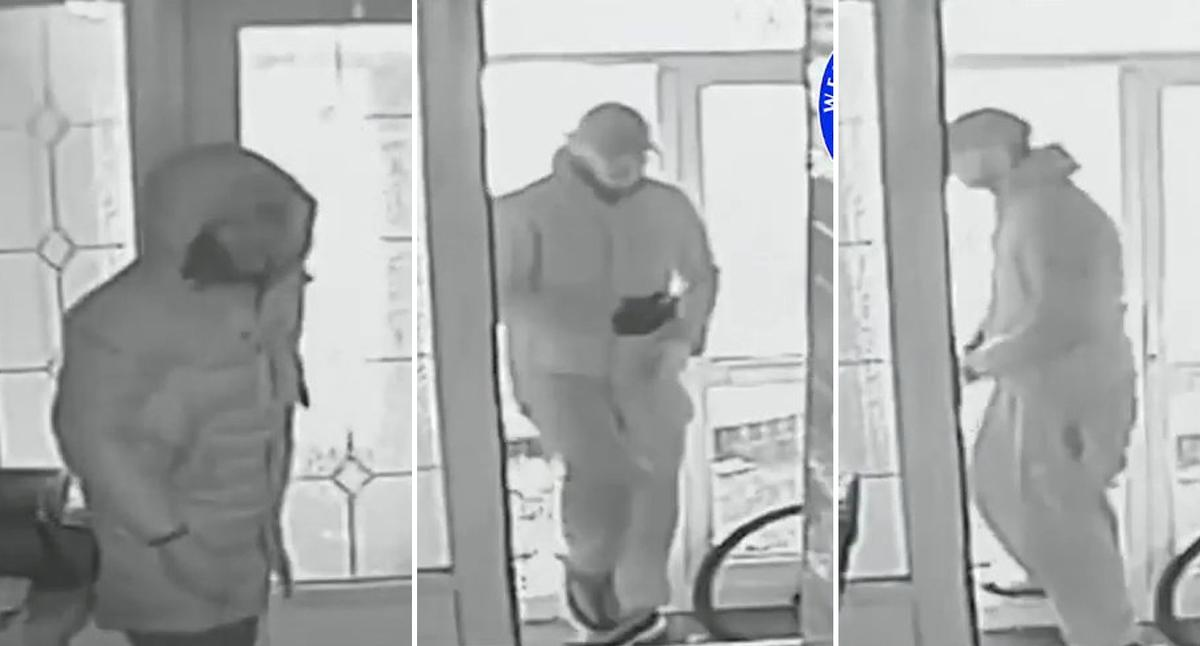 Police release CCTV footage of pensioner dragged out of his home during daytime robbery