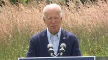 Joe Biden condemns President Trump as Western wildfires rage