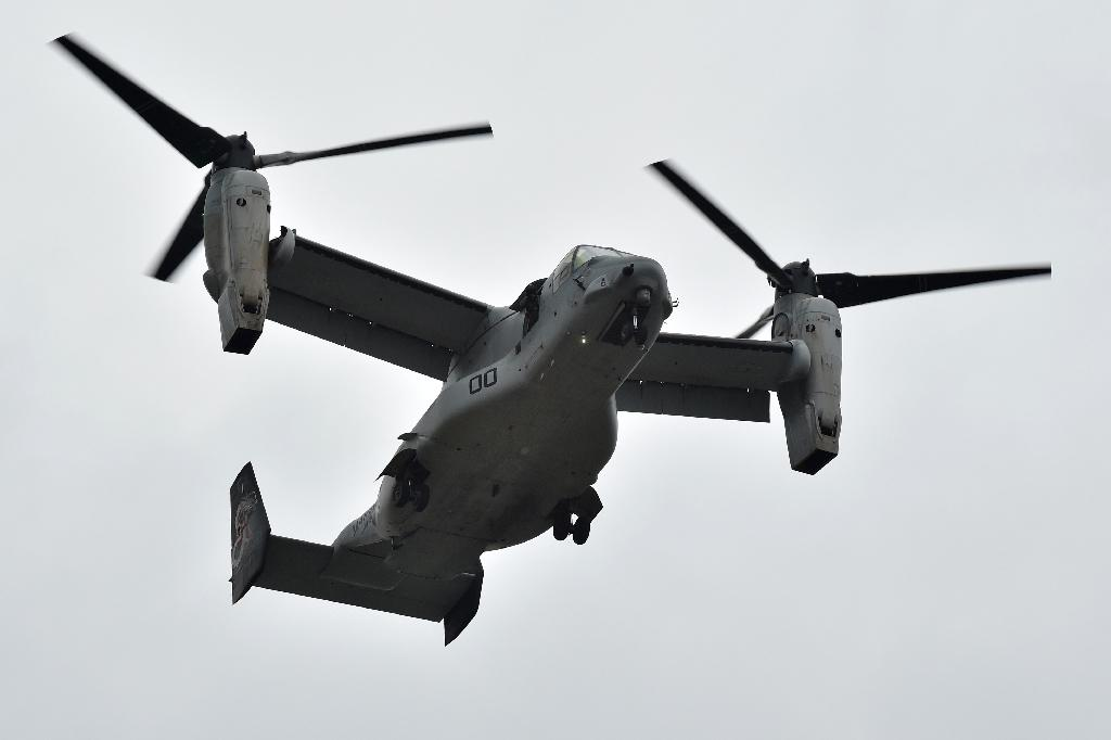 A tilt-rotor Osprey aircraft: Japan's new Marine unit will be equipped with them