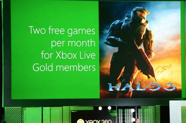 Xbox Live will offer two free games per month starting July, includes Assassin's Creed 2 and Halo 3