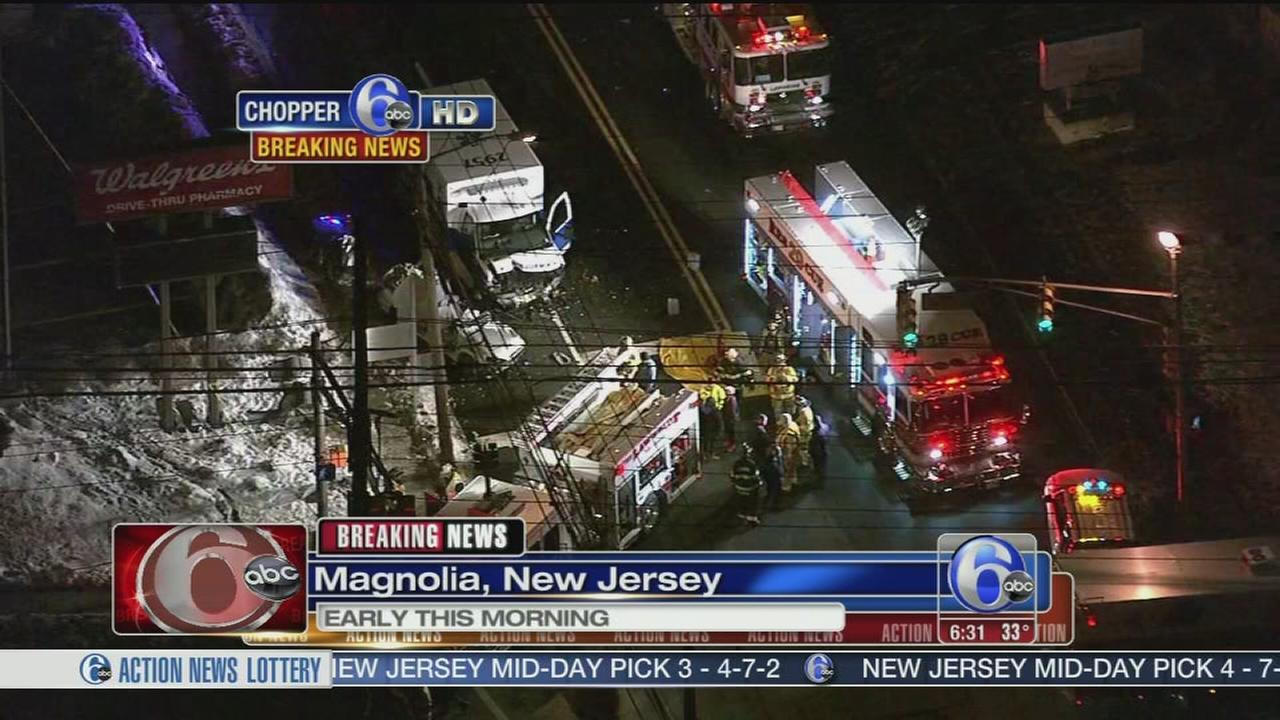 Serious crash involving ambulance in Magnolia, N J