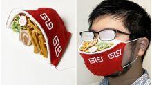 日本搞笑設計師 「拉麵口罩」越多霧氣越像真