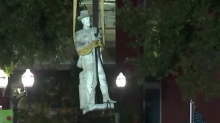 Protester arrested while opposing removal of Confederate statue in Georgia