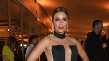Eva Longoria Joins the Balmain Army in Sheer Dress