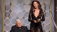 101-year-old Kirk Douglas receives heart-warming ovation at the Golden Globes