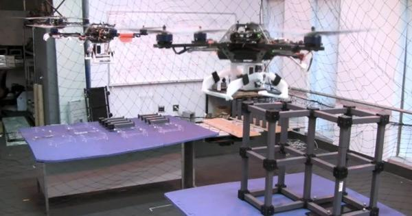 Quadrocopters learn to build things, when will humans learn to fear them? (video)