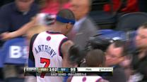 Melo Hit By Camera
