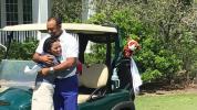 Woods trainiert mit Golf-Wunderkind