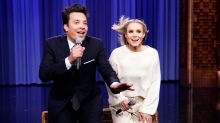 Kristen Bell and Jimmy Fallon Perform Epic 'History of Disney Songs' Medley
