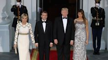 Melania Trump sparkles in silver Chanel for first official state dinner