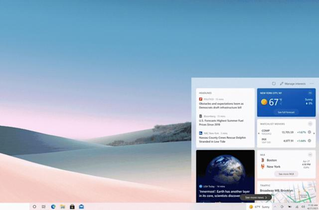 Weather and news are coming to the Windows 10 taskbar