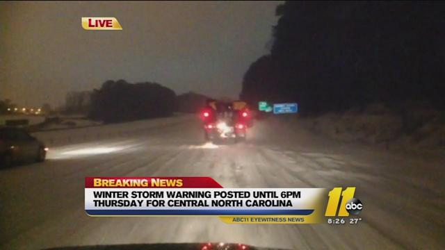 The latest on road conditions across the area