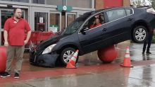 'How?' Internet baffled by unusual crash outside Target