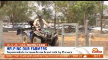 Supermarkets increase home brand milk by 10 cents