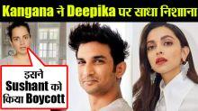 Kangana accuses Deepika of boycotting Sushant and conspiring the JNU protest
