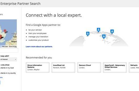 Google offers Enterprise Partner Search to help businesses find local tech support