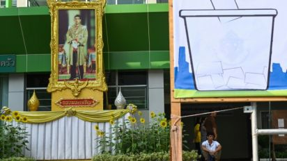 Thai king urges support for 'good people' hours before polls open