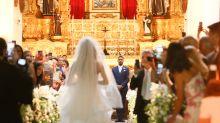 Thaila Ayala e Renato Góes celebram casamento com festão para 400 convidados