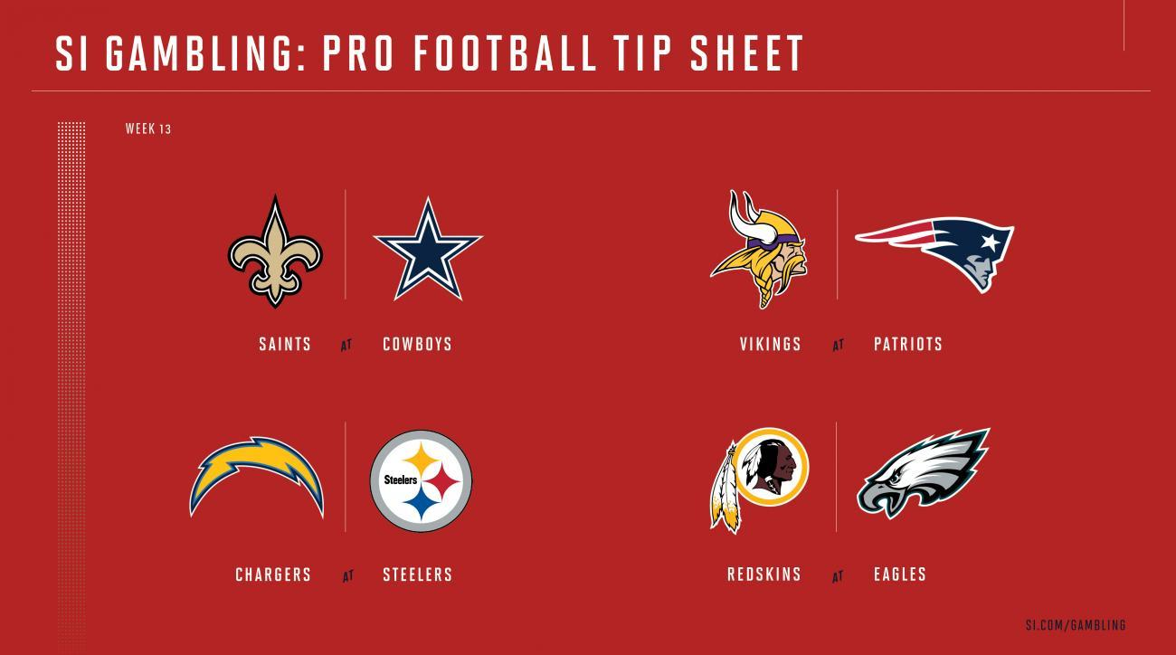 This is an image of Nfl Week 13 Printable Schedule with regard to tip sheet