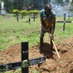 For Sri Lanka grave digger, a grim parade