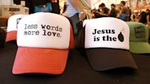 Man wearing 'I [heart] Jesus' hat breaks into church to rip Bibles, defaces walls with spray paint