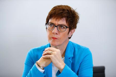 Christian Democratic Union (CDU) candidate for the party chair Annegret Kramp-Karrenbauer is pictured during a Reuters interview in Berlin