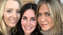 'Friends': Así fue el reencuentro de Courteney Cox con Jennifer Aniston y Lisa Kudrow