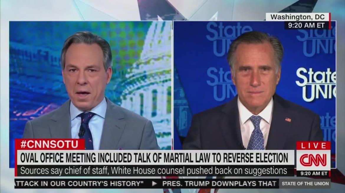 Romney Blasts Trump S Embarrassing Flirtation With Martial Law It S Going Nowhere