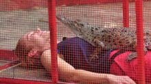Tag 9 im Dschungelcamp: Doreen und das pinkelnde Krokodil