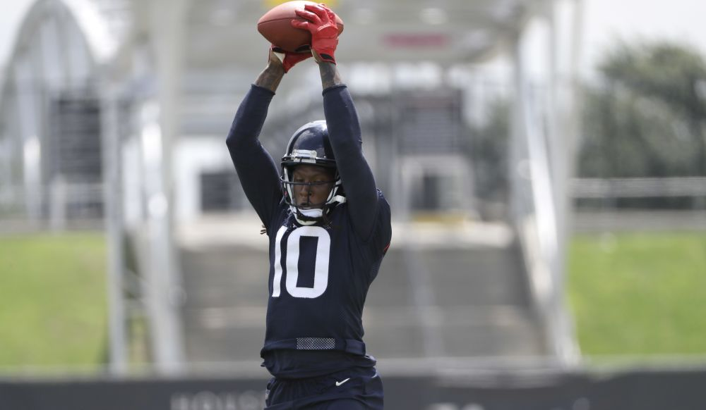 DeAndre Hopkins agreed to a five-year extension with the Houston Texans. (AP)