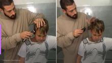 Davi Lucca homenageia Neymar e corta cabelo igual ao do pai